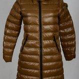 Бежевое теплое пальто libland м-л
