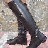 Сапоги, ботфорты женские зимние. S-20. натуральная кожа.