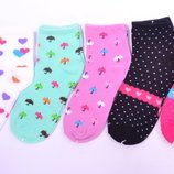 Носочки для девочки размер 25-36, упаковка 5 пар. Польша, хлопок