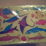 Трафарет Водный мир для рисования творчества поделок канцтовары канцелярия школ шкіл дитяч труд