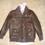 Новая демисезонная кожаная куртка Chicco на 4-5 лет, 110р.