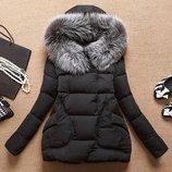 куртка женская Зимняя пуховик парка теплая термо пальто зимний женский