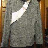 Полу пальто серое шерсть