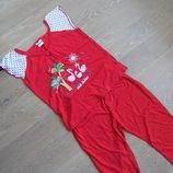 Пижама девочке рр М красный пижама женская