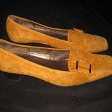 шикарные замшевые туфли Gabor, 37 р-р