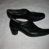 шикарные кожаные туфли оксфорды 37 р-р, Paul Green