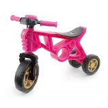 Беговел мотоцикл 2 трехколесный розовый Орион 171 велобег пластиковый