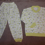 Новые пижамы для мальчиков и девочек, хлопок, Турция