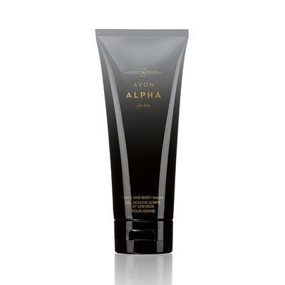 Шампунь-Гель для душа для мужчин Avon Alpha, 200 мл