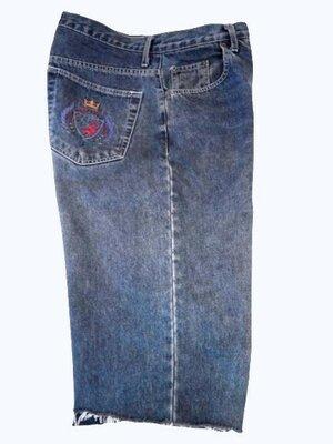 Мужские джинсовые длинные шорты, бриджи The sweater shop, талия 92 см.