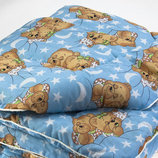 Одеяло детское из овечьей шерсти 140 100 см