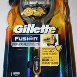 Новинка Станок для бритья Gillette Fusion Proshield с одним картриджем и подставкой