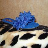 Шлепанцы ярко-синие 36 37 38 40 размеры