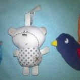Цена за3.Подвесные игрушки,погремушки на липучке.игрушка погремушка мишка птичка