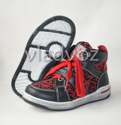 Детские демисезонные ботинки кроссовки красные для мальчика Bessky 27р 29р 31р