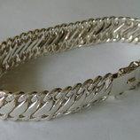 Браслет мужской Бр009Мм, серебро 925 пробы.