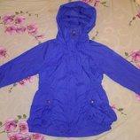 Синяя ветровка куртка курточка на 4 5 6 лет рост 110см