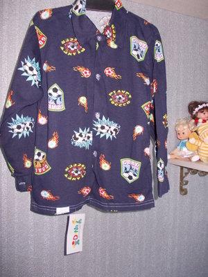 Нова сорочка на сина 222-128-134 Довж-52,шир-37,рукав-42