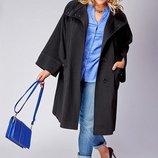 полупольто теплая куртка большого размера батал