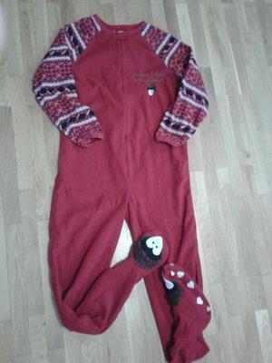 Пижама комбинезон флисовая слип Ёжик
