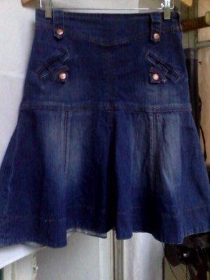 Юбка годе тертый джинс навороченная - р.46-48