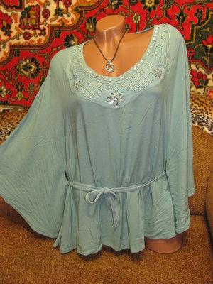 Новая супер лёгкая блуза-накидка, р. С-Л