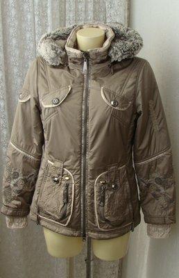 Куртка теплая модная капюшон Sportalm р.44 7129