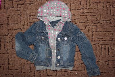 Классная джинсовая курточка 5-7лет.
