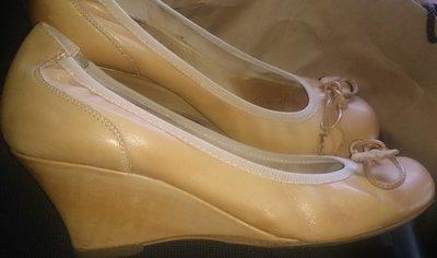 стильні рижі туфлі шкіра р38/39