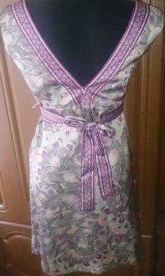 стильний фіолетовий сарафан H&M р38 ід стан