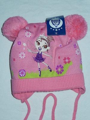 Теплая шапочка Фея,р-Р 45-50,на флисе,зима