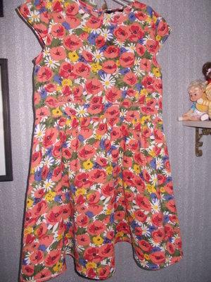 Плаття квітчасте з підкладочкою 10-12років