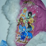 Anika зимняя ушанка на девочку Winks ,50 размер,новая