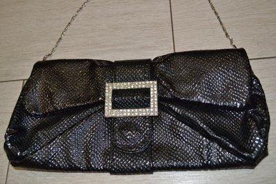 Красивый черный клатч. Маленькая черная сумочка, сумка. Чорний клатч