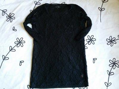 Крутая черная кофта с гипюром от Next, размер 36