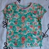 Крутая футболка в цветы от F&F на 3-4 года, 104 см