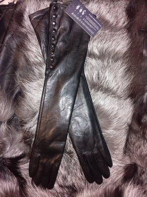 Сезонная распродажа Женские кожаные длинные перчатки
