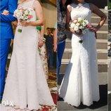Свадебное Платье с ажурной спинкой, р.44 М