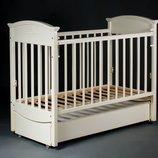 Детская кроватка Laska Наполеон Vip на маятнике с ящиком