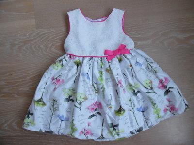 Платье девочке 5-9 мес нарядное детское новое