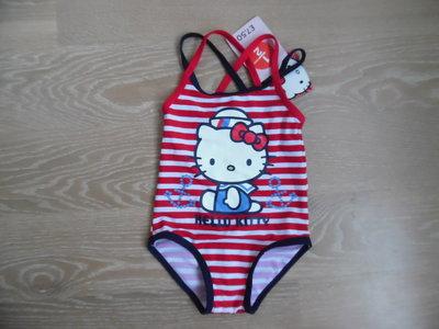 Купальник 1 год девочке новый с биркой бренд новый Hello Kitty Хелло Кити красный полоска