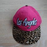 Бейсболка девочке пишет 1 рр розовая леопард Young Dimension Янг Дайменшн