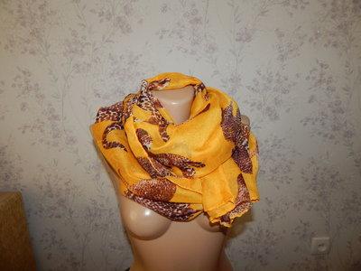 шарф-парео тонкий стильный модный