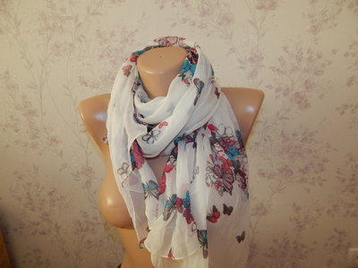 шарф шифоновый стильный модный
