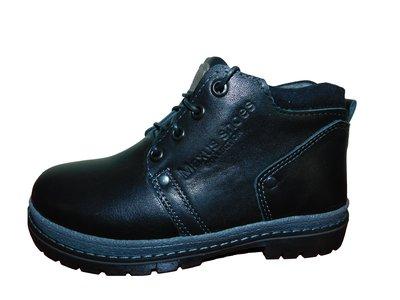 Детские черные ботинки 32-39 р.