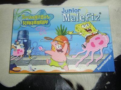 шикарная настольная игра Spongebob junior malefiz Ravensburger Германия оригинал