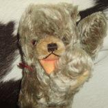 роскошный антикварный мишка медведь Hermann Zotty teddy bear Германия оригинал мохер солома 27 см