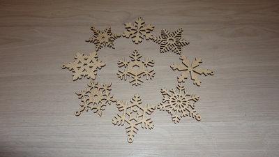 Снежинки новогодние игрушки - подвески