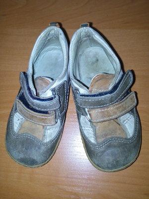 Кожаные ортопедические кроссовки / макасины / туфли Gold Kind, размер 23