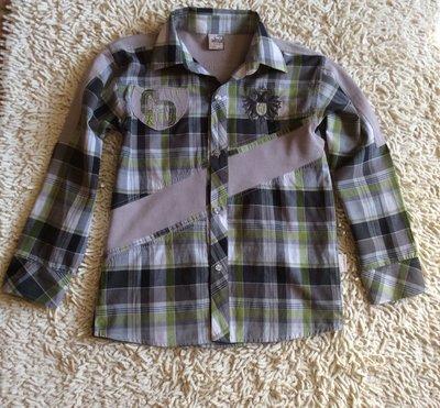 Рубашка с длинным рукавом на 8-9 лет